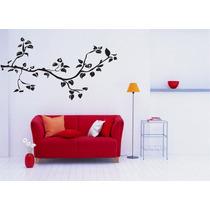 Adesivo Decorativo Parede Sala Galho Folhas Árvore Floral