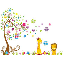 Adesivo Decorativo Quarto Infantil Corujinha Zoo Bicho 2,20m