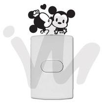 Adesivo Decorativo De Tomada Interruptor Mickey E Minnie