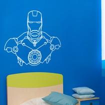 Adesivo De Parede Homen De Ferro - Iron Man - 52x47cm