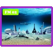 Decoração Fundo Mar Peixe P/ Aquários Fazemos Todas Medida