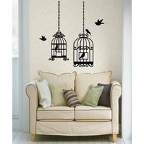Adesivo Decorativo Parede Gaiola Com Pássaros Tamanho Grande