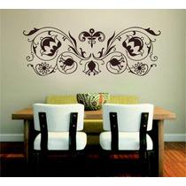Adesivo Decorativo Parede Sala Quarto Floral Grande Arabesco