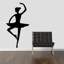 Adesivo Decorativo Parede Quarto Infantil Bailarina Balé