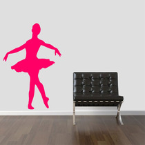 Adesivo Decorativo Parede Infantil Bailarina Balé Música