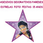 Adesivos Decorativos Parede Pista Dança Estrela Foto 15 Anos