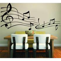 Adesivo De Parede Música Notas Musicais Musical Rock Violão