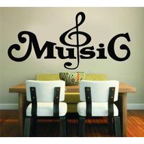 Adesivo Decorativo Parede Música Music Notas Musicais Rock