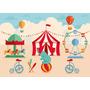 Painel Lona Aniversario Infantil Tema Circo