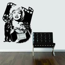 Adesivo Parede Filme Cinema Marilyn Monroe Charlie Chaplin