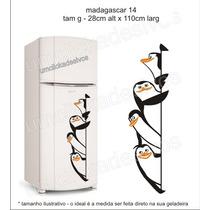 Adesivo Geladeira Pinguim De Madagascar 14