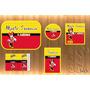 Kit Festa Impresso Minnie 100 Rótulos Personalizados