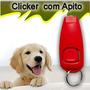 Apito Com Clicker Adestramento Cães Frete Grátis