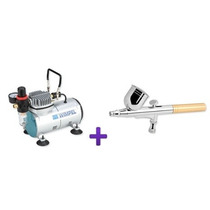 Kit Compressor + Aerógrafo Dupla Ação Profissional Wimpel