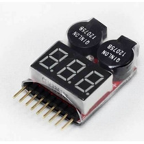 Alarme/medidor De Bateria Buzzer Display P/ Bat Li-po 1-8c