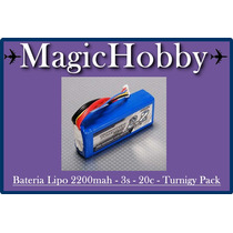 Bateria Lipo 2200mah - 3s - 20c - Turnigy Pack(promoção)