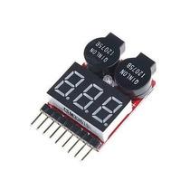 Alarme De Bateria Li-po Buzzer E Teste De Li-po 1 À 8s