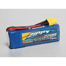Bateria Lipo Zippy 2s 2200ma 7.4v - Perfeita Para Revinho
