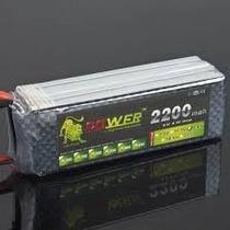 Bateria Lipo 14.8v 2200mah 40c 4s Futaba Turnigy Zippy Jr