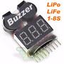 Medidor Bateria Lipo Life Li-ion 1-8s Alarme Buzzer 2 Em 1