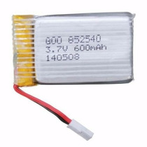Bateria Lipo 1s 3,7v 600mah Plug Do Quadri Syma E Fq777