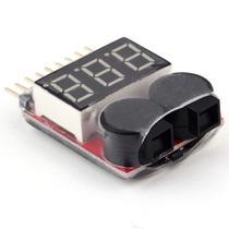 Alarme Medidor Bateria Li-po Buzzer Teste De Li-po 1 - 8s