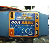 Speed Control Hobbyking (esc) 60a P/ Aviões Brushless Sbec