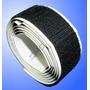 Velcro Com Adesivo 2,5cm X 5 Metros Par Macho E Fêmea Preto