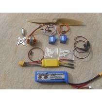 Combo Asa Zag - Só Plugar - Motor/esc/bateria/helice/servo/y