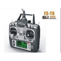 Rádio Controle Fs T6 Flysky 2.4 Ghz 6 Canais