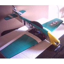 Aeromodelo Mustang P- 51para Motor Elétrico Os Futaba Servo