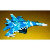 Avião A Jato Caça Russo Super Flanker! Tam. Grande! Lindo!