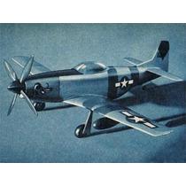Planta Aeromodelo P 51d Em Balsa Frete Grátis