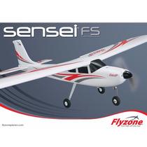 Avião Flyzone Sensei Trainer Fs W/wise 2.4ghz Rtf Flza3030