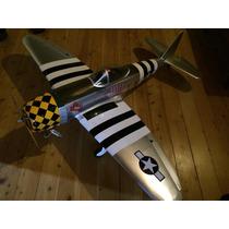Avião P47 Pronto Para Voar Envergadura Troco Por Carretinha