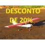 Aeromodelo Asa Alta Treinador Elétr. Polionda Pasta C/trem P