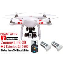 Drone Dji Phantom 2 + Gopro Hero3+ Black Edition + Baterias