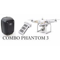 Combo Dji Phantom 3 Profissional Drone Case Rigida + Bateria