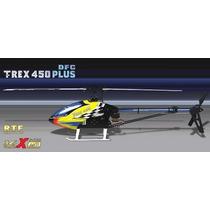 Aling T-rex 450 Rtf Rádio+bateria+fonte+completo.