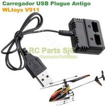 Carregador Bateria Usb Plugue Antigo Helicóptero Wltoys V911