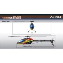 Helicóptero Align T-rex 550e Dfc 3gx Super Combo