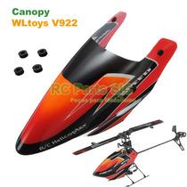 Carenagem Vermelha (canopy) Peça P/ Helicóptero Wltoys V922