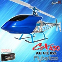Helicoptero Clone Trex 450 Flybarless Copterx + Eletronica