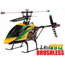 Helicóptero V912 Brushless Wltoys Versão 4ch 2.4ghz