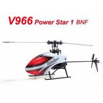 V966 Helicóptero 6ch Flybarless Bnf Somente O Helicóptero