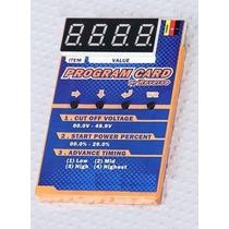 Cartão De Programação Esc Brushless Car Hk 100a 9550 - Hk C