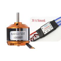 Motor A2212/13t 1000kv Brushless + Esc Simonk 30a Bec Dji
