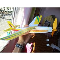Avião Voa A Elástico Super Resistente E Dinâmico