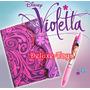 Violetta Disney Pack - Diario + Caneta + Stickers!!!!!