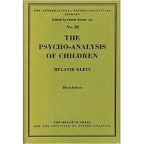 Livro The Psycho-analysis Of Children Melanie Klein